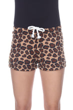 Load image into Gallery viewer, Ladies Duke Fleece Shorts - Cheetah