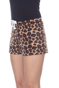 Ladies Duke Fleece Shorts - Cheetah