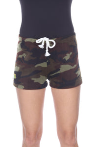Ladies Duke Fleece Shorts - Green Camo