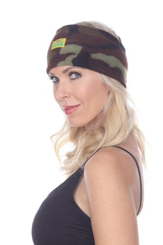 Fleece Headband - Green Camo