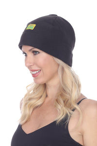 Black Fleece Stocking Cap from Fuzzy Duds