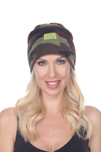 Fleece Beanie - Green Camo