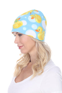 Fleece Beanie - Bubble Ducks