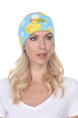 Bubble Ducks Fuzzy Fleece Headband