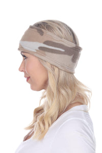 Fleece Headband - Sand Camo
