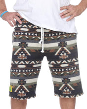 Load image into Gallery viewer, Mens Fleece Shorts - Green Aztec