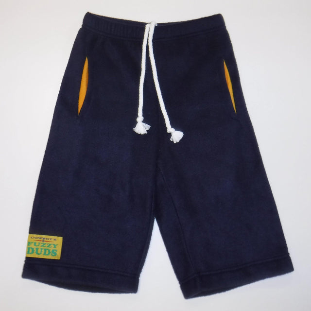 Youth - Navy with Yellow Pockets - Fuzzy Duds