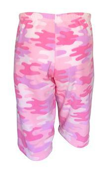 Mens Fleece Shorts - Pink Camo
