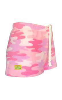 Ladies Duke Fleece Shorts - Pink Camo
