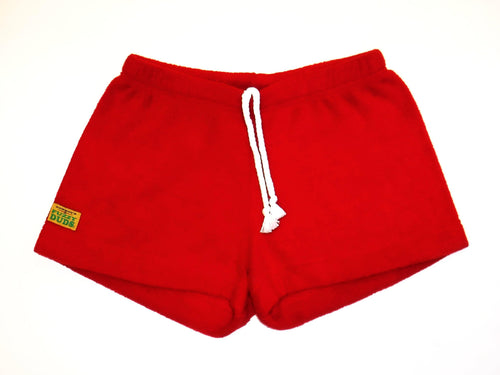 Ladies Duke Fleece Shorts - Red