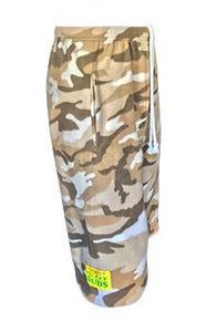 Mens Fleece Shorts - Sand Camo