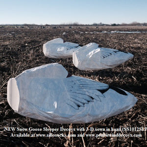 3-D Snow Goose Windsocks - Dozen
