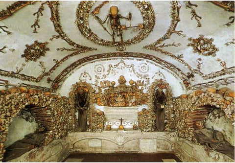 The Capuchin Crypt with human skeletal remains as ornamentation