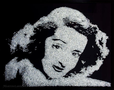 "Vik Muniz created portraits of elegant movie stars in diamond, as a nod to Andy Warhol and Joseph Beuys who he credits as his major influences for the ""Pictures of Diamonds"" suite. The series, which developed slowly, resulted in an exhibition in Paris, and it is kind of a sample of techniques and attitudes that Vik Muniz was dedicated to."
