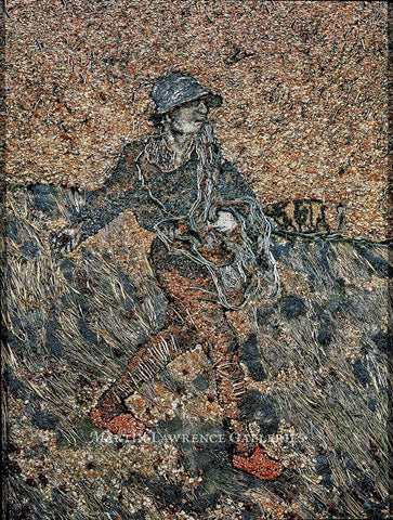 The Sower, after Van Gogh is a photograph of a composition of dried flower pods, sprigs of lavender, straw, dried seeds, and sticks.