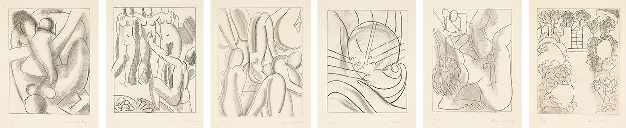 Henri Matisse, Ulysses, suite of six hand-signed etchings, 11.75 x 8.25 inches each