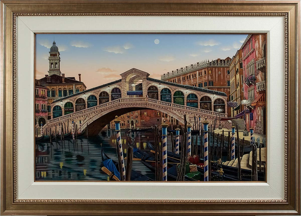 Rialto Bridge at Sunset