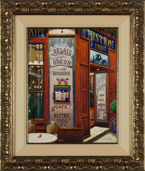 Liudmila_Kondakova_Brasserie_Postcards_from_Paris_Framed