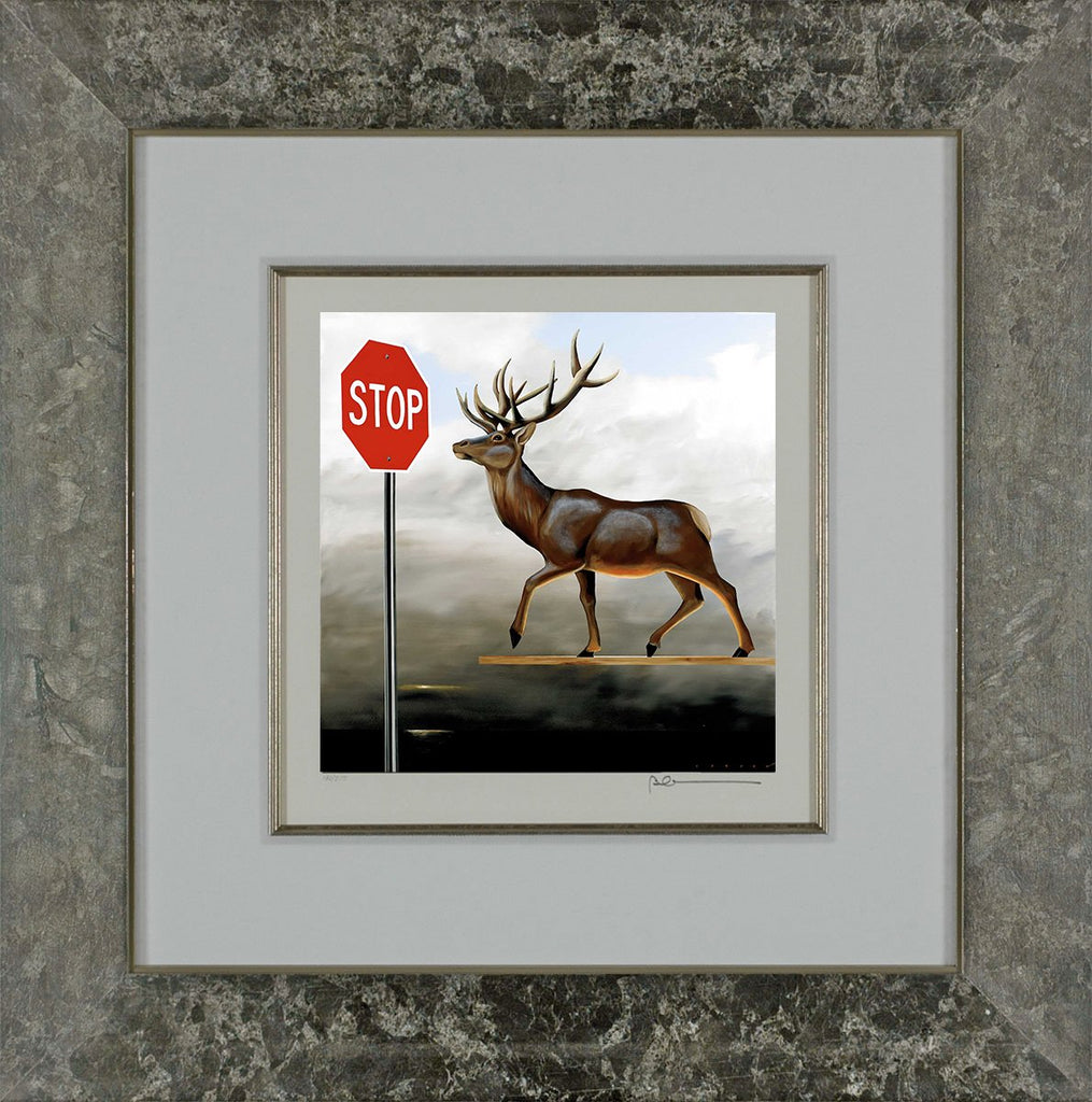The Buck Stops Here (Deer at Stop Sign)