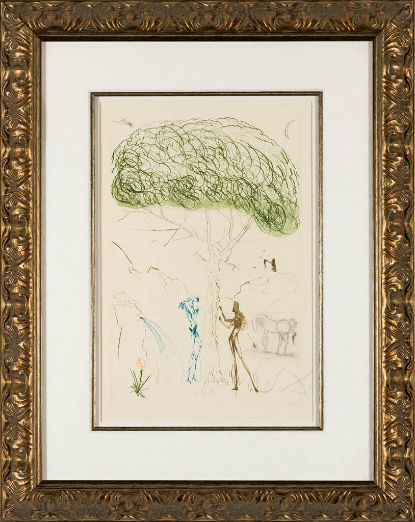 Under the Parasol Pine (Tristan and Iseult, Plate I)