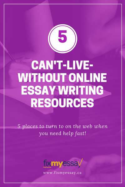 Fix My Essay's Blog - 5 Online Essay Resources