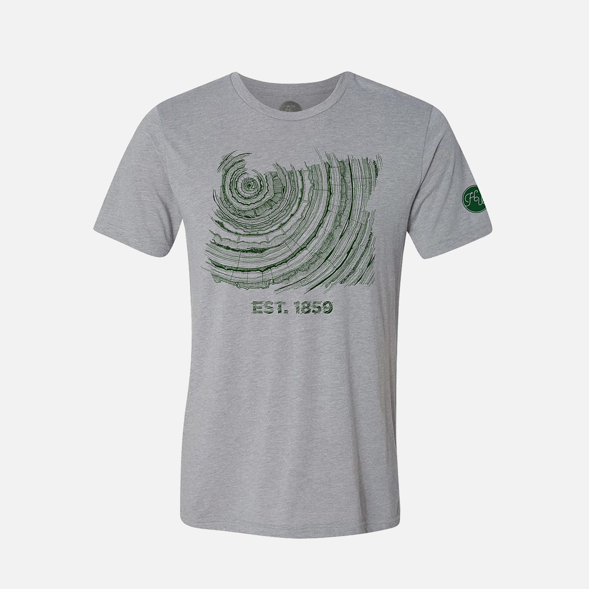 Oregon Tree Rings Hipster Shirt Since 1859