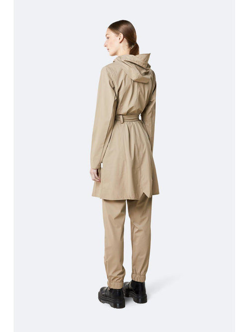 Curve Rain Jacket Beige-Rains-Sattva Boutique