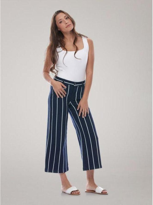 Yoga Jeans / Lily Wide / Classic-Rise / Navy Pier-Clothing - Demim-Sattva Boutique