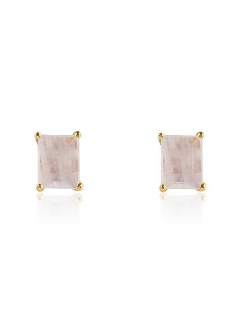Leah Alexandra Baguette Studs-Jewerly - Earings-Sattva Boutique