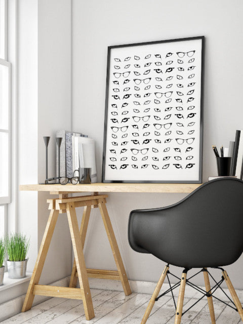 Michelle SaintOnge Cat Eyes Print 18x24
