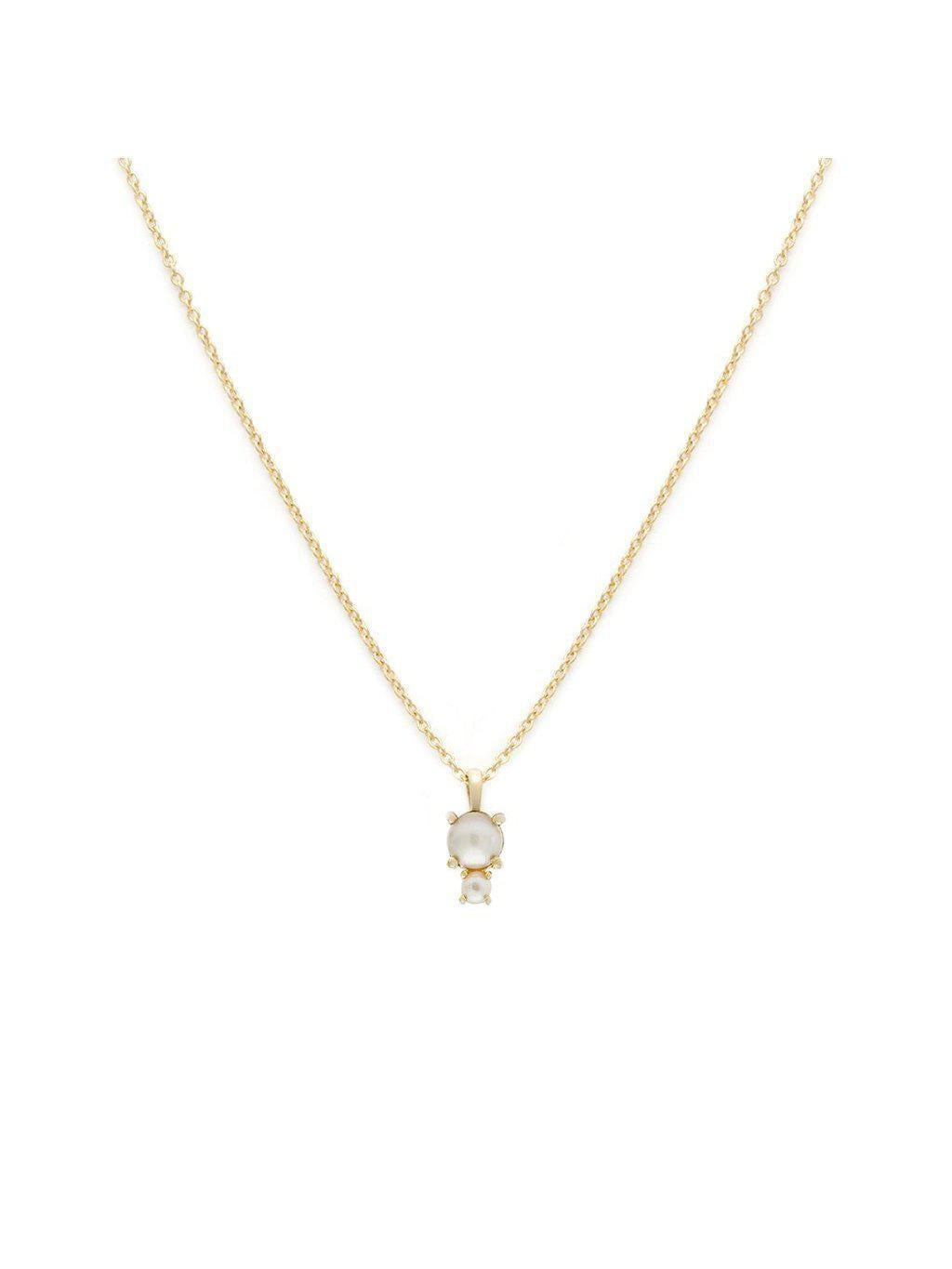 Leah Alexandra Duo Necklace Prl/Gold-Jewerly - Necklace-Sattva Boutique