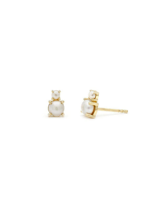 Leah Alexandra Duo Studs Prl/Gold-Jewerly - Earrings-Sattva Boutique