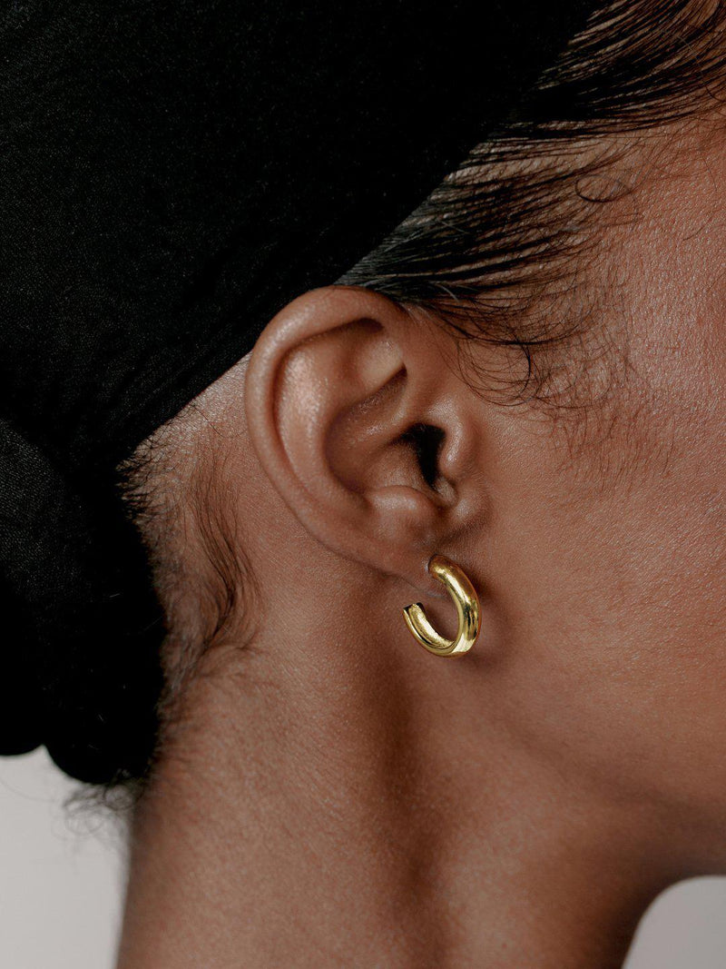 Classic Hoops Gold-Jewerly - Earrings-Sattva Boutique
