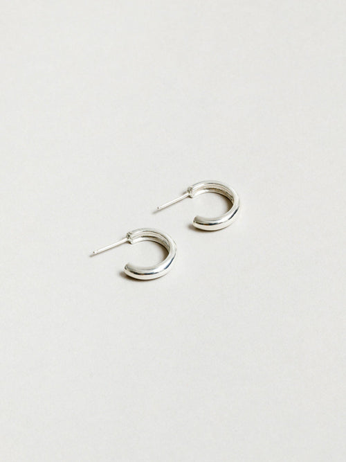 Classic Hoops Silver-Jewerly - Earrings-Sattva Boutique