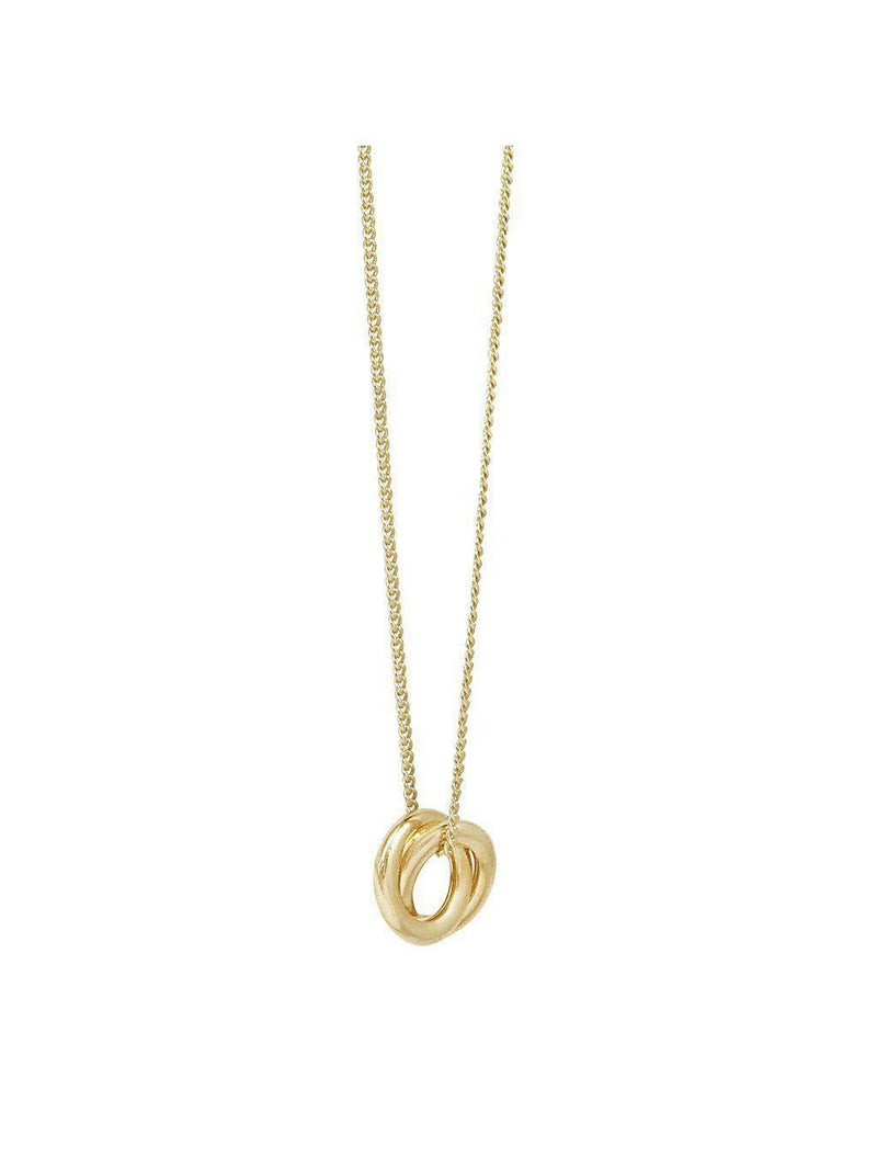 Biko Forget Me Knot Pendant Gold-Jewerly - Necklace-Sattva Boutique