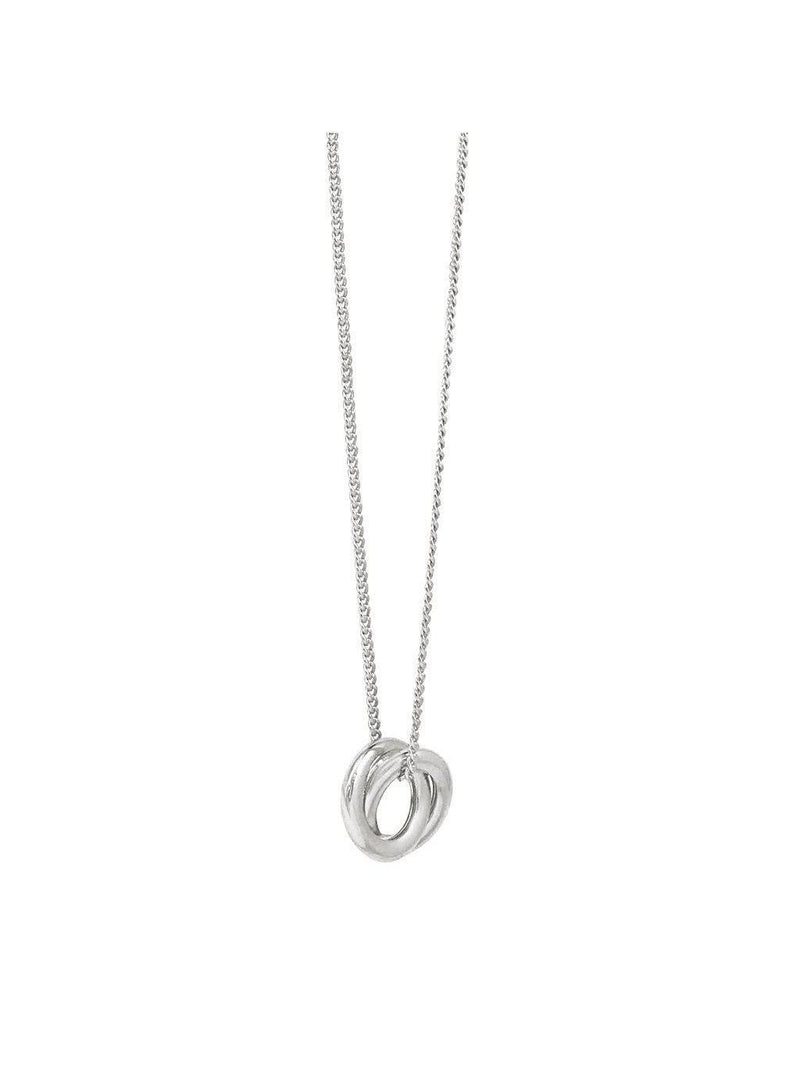 Biko Forget Me Knot Pendant Silver-Jewerly - Necklace-Sattva Boutique