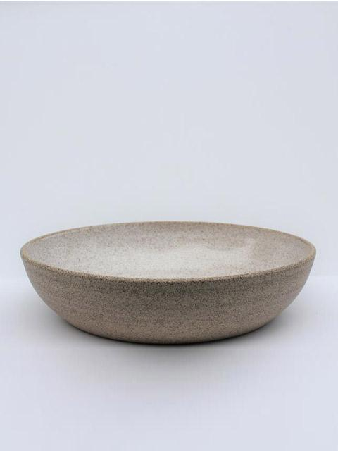 Sandstone Serving Bowl-Housewares - Ceramics-Sattva Boutique