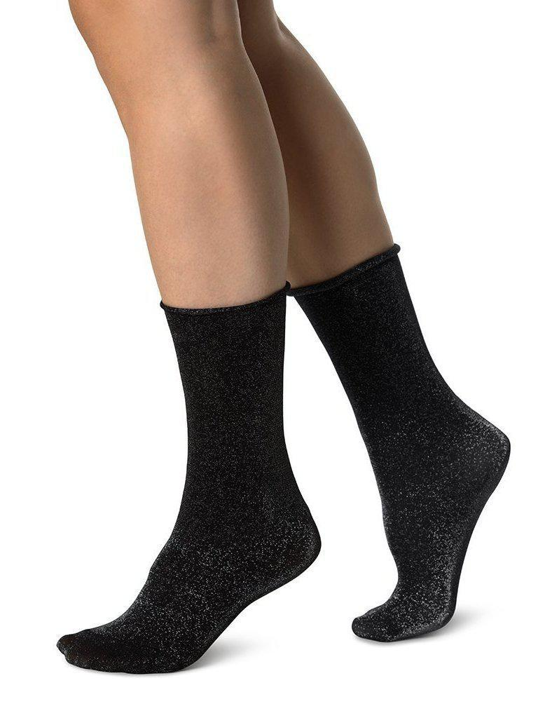 Swedish Stocking Lisa Lurex Socks-Accessories - Socks-Sattva Boutique