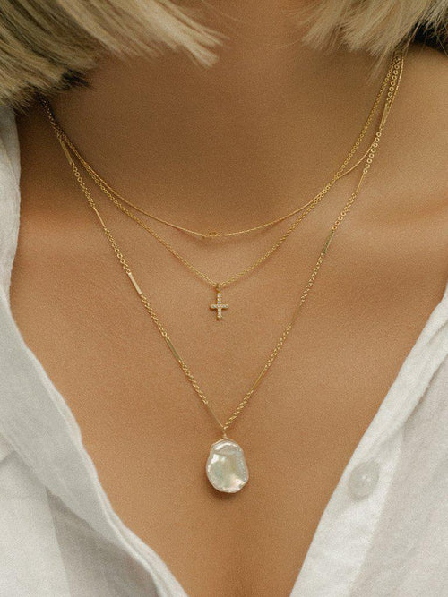 Marola Necklace Pearl-Jewerly - Necklace-Sattva Boutique