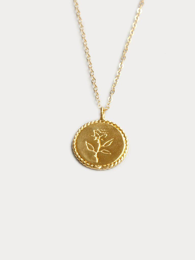 Rose Coin Gold Necklace-Wolf Circus-Sattva Boutique