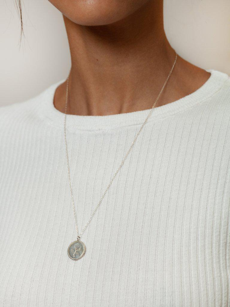 Rose Coin Silver Necklace-Wolf Circus-Sattva Boutique