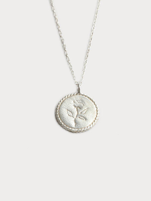 Wolf Circus Rose Coin Silver Necklace-Jewerly - Necklace-Sattva Boutique