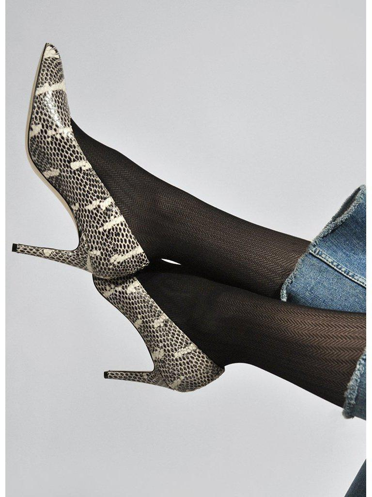 Swedish Stocking Nina Fishbone Tights-Accessories - Hosiery-Sattva Boutique