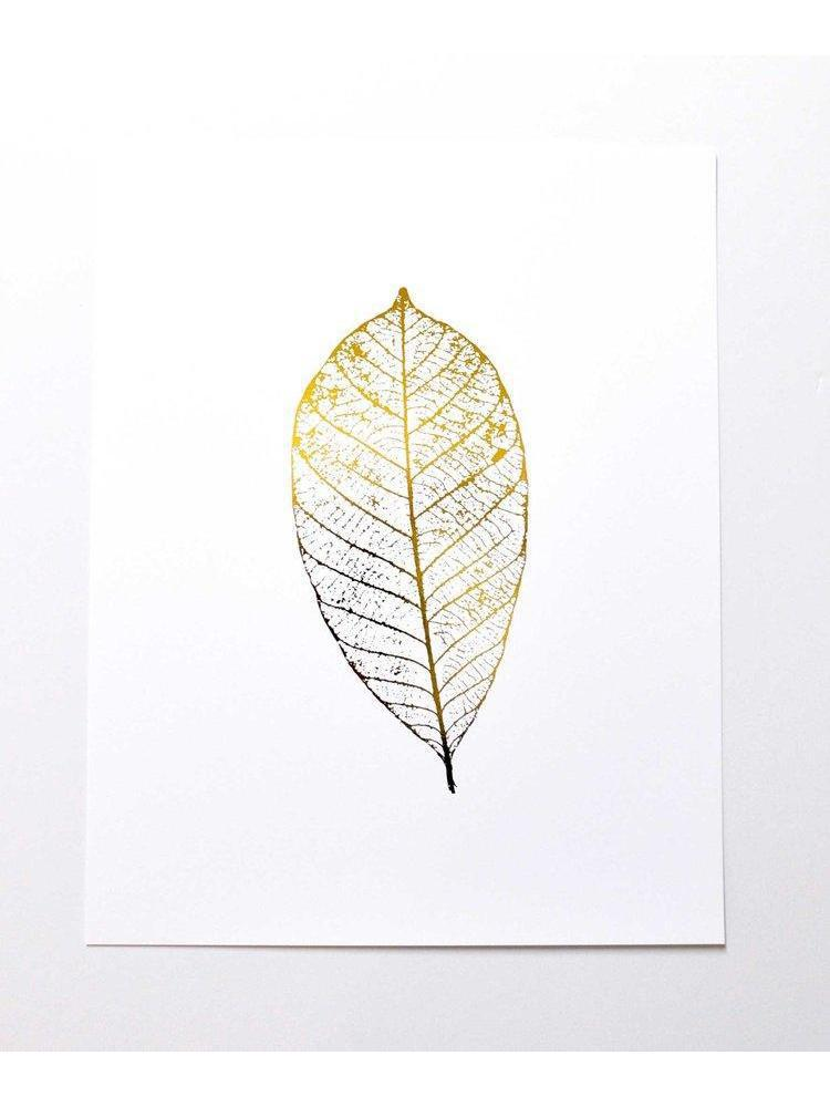 Gold Leaf Art Print-Swell Made-Sattva Boutique