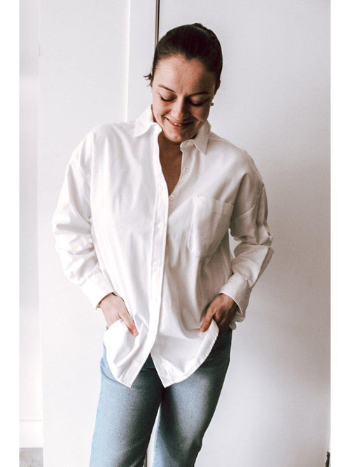 Naked & Famous Oxford Easy Shirt-Clothing - Tops-Sattva Boutique