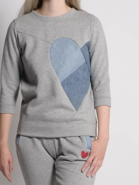 Heart of Hearts Sweatshirt-Preloved-Sattva Boutique