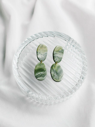 Simone Earrings Marble Green-Tink-Sattva Boutique