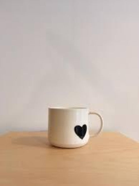 JAW Pottery Heart Mug-Non Clothing Accessories - Ceramics-Sattva Boutique