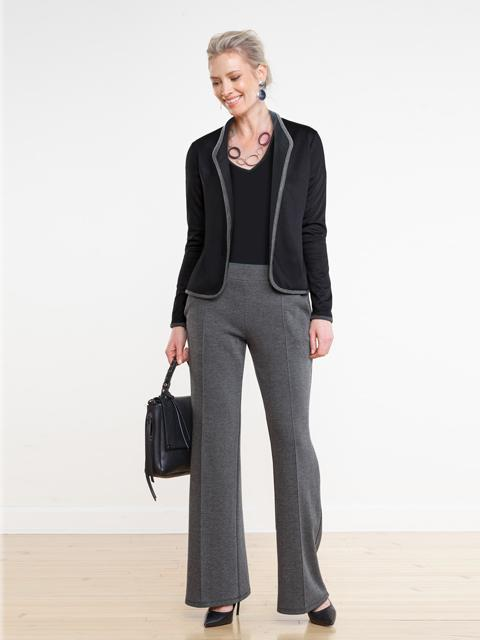 Miik Emerson Cropped Blazer Black Ponte-Clothing - BlazersCardi's (not knit)-Sattva Boutique