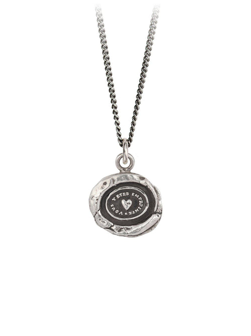Heart Print Necklace-Jewerly - Necklace-Sattva Boutique